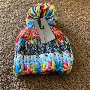 Colorful Zara winter hat size medium bnwt
